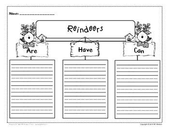 Jolly Reindeer - Writing Activities and Craft
