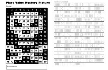 Jolly Roger Place Value Math Mystery Picture - 11x17 - Talk Like A Pirate Day