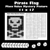 Jolly Roger Place Value Math Mystery Picture - 11x17 - Tal