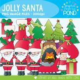 Christmas - Jolly Santa - Christmas Clipart Set for Teachers
