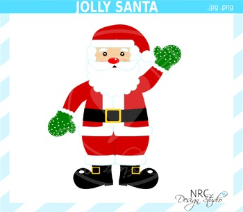 Jolly Santa Clip Art- Commercial Use Clipart