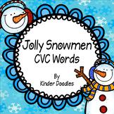 Jolly Snowmen CVC Word Activity Set