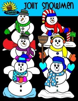 Jolly Snowmen Clipart