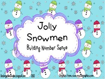 Jolly Snowmen  Number Sense Activity Pack