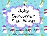 Jolly Snowmen Sight Words