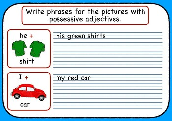 Jolly's Write Right - The Colors with Possessive & Demonstrative Adjectives
