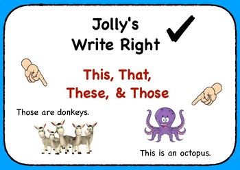 Jolly's Write Right - This, That, These, & Those