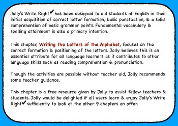 Jolly's Write Right - Writing the Letters of the Alphabet