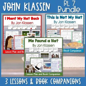 Jon Klassen Hat Trick! 3 Lesson Plan BUNDLE for RL 7