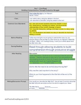 Jon Klassen Hat Trilogy 3 Week Lesson Plan Bundle