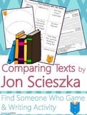 Jon Scieszka Author Study {NO PREP Writing Activities & Game}