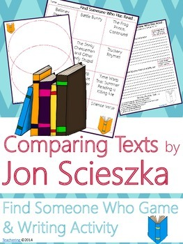 Jon Scieszka Author Study {NO PREP Writing Activities & Game}