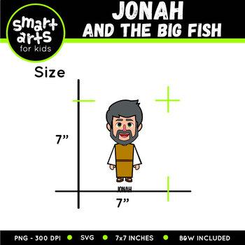 Jonah And The Big Fish Clip Art