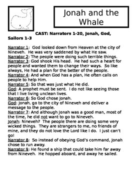 Jonah And The Whale Activity Packet