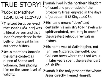 Jonah Power Point Notes