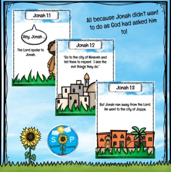 Jonah & The Whale Scripture Cards