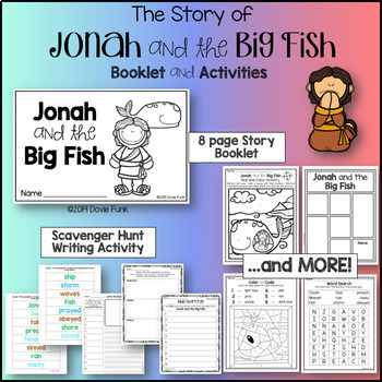 Jonah and the Big Fish Booklet and Activities for Church or Sunday School
