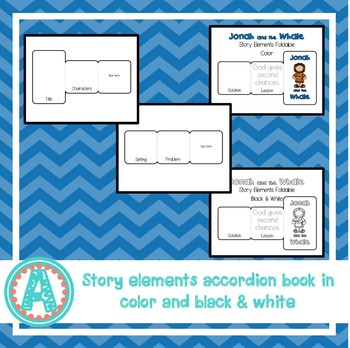 Jonah and the Whale Interactive Notebook Foldables