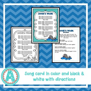 Jonah and the Whale Song and Paper Bag Book