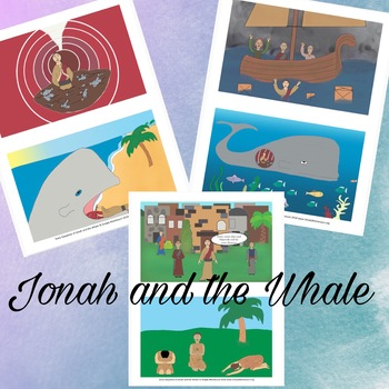 Jonah and the Whale Story Sequencing Preschool Bible Christian Sunday School