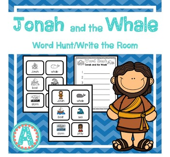 Jonah and the Whale Word Hunt/Write the Room