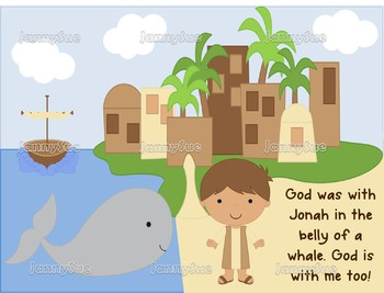 Jonah and the whale- God was with Jonah Bible craft for kids