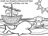 Jonah And The Whale Coloring Page Worksheets Teaching Resources Tpt