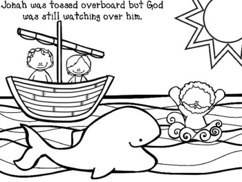 Jonah And The Whale Coloring Pages By Jannysue Tpt