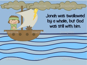 Jonah in the Boat with whale craft- Bible story craft