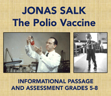Jonas Salk and the Polio Vaccine: Informational Passage and Assessment