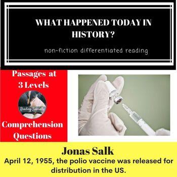 Jonas Salk Differentiated Reading Passage April 12