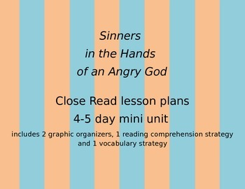 """Jonathan Edwards """"Sinners in the Hands of an Angry God"""" Lesson Plans"""