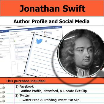 Jonathan Swift - Author Study - Profile and Social Media