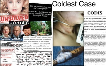 Jonbenet Ramsey & CODIS ~ FREE POSTER ~ DNA ~ Cold Murder Case