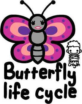 Jonny Crayon's FREE Butterfly Life Cycle Poster