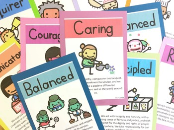 Jonny Crayon's IB Learner Profile Posters UPDATED (v1.1)