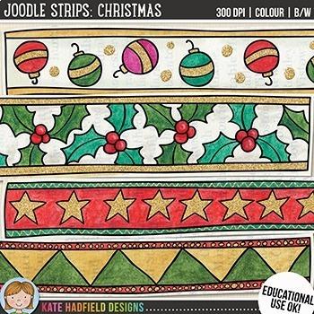 Christmas Strips Clip Art