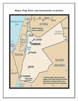 Jordan Geography Maps, Flag, Data, Assessment - Map Skills Data Analysis