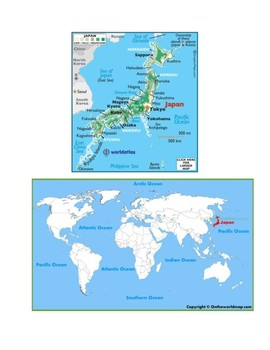 Japan Map Scavenger Hunt