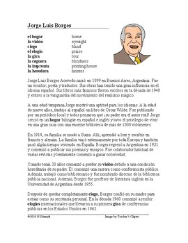 Jorge Luis Borges Biografía - Spanish Biography on Argentine Writer/Poet