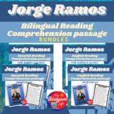 Jorge Ramos Bilingual Reading Comprehension Activity Bundle