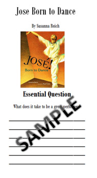Jose Born to Dance Study Resource 4th Grade Journeys Unit 2, Lesson 10