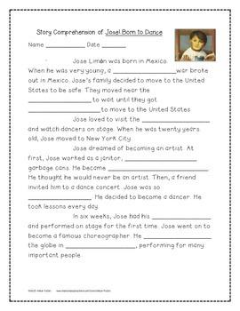 Jose! Born to Dance Supplemental Activities 4th Grade Journeys Unit 2, Lesson 10