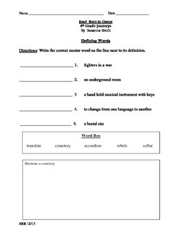 Journeys Common Core 4th - Jose!  Born to Dance Supplemental Packet for the SLP