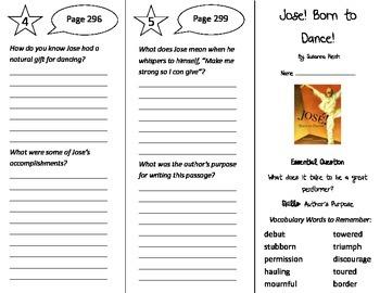 Jose! Born to Dance! Trifold - Journeys 4th Grade Unit 2 W