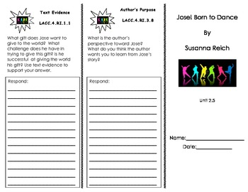 Jose! Born to Dance Trifold/ Journeys/ Common Core