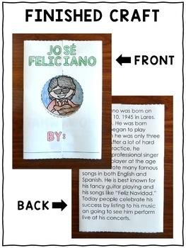 Hispanic Heritage Craft - Jose Feliciano Activity