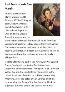 José Francisco de San Martín Handout