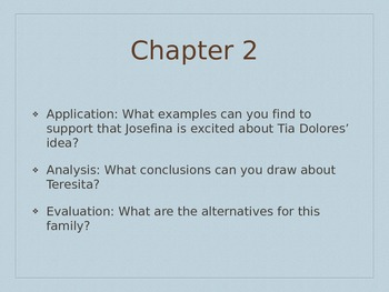Josefina Learns a Lesson Higher Order Thinking Questions Powerpoint