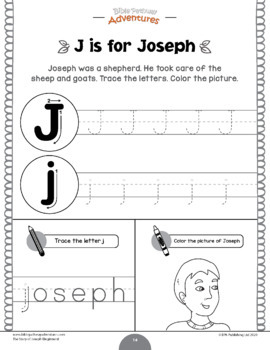 Joseph Activity Book for Kids Ages 3-5